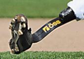 Playing Game Of Baseball With A Metal Leg